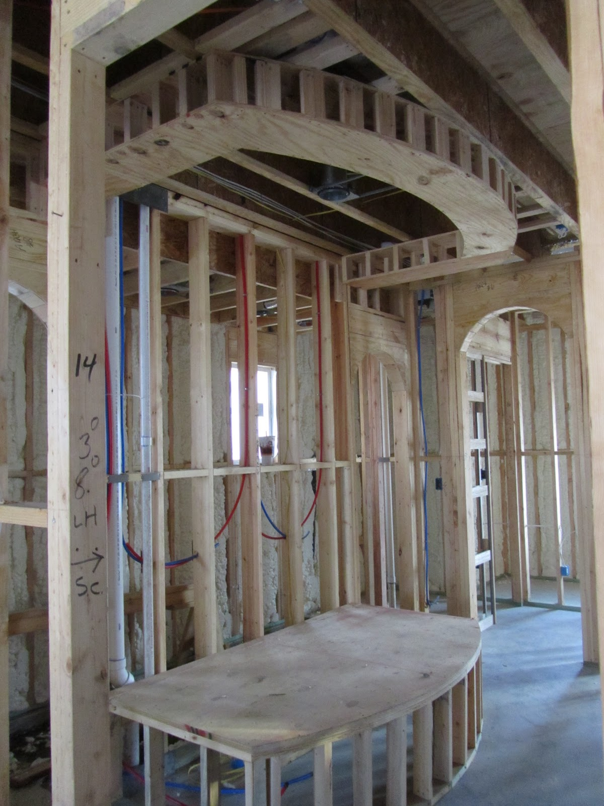 Master tub frame with ceiling design framed above. title=