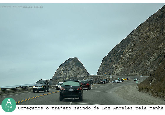 rota 1a - De Los Angeles a San Francisco pela Highway 1