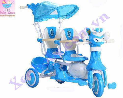 Xe đạp cho bé 3 bánh đôi 9027 1