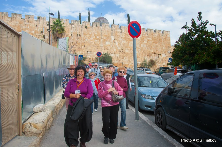 Южная стена старого города Иерусалима. Экскурсия в Иерусалиме Светланы Фиалковой.