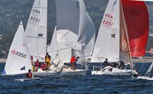 J/24 sailboats - sailing off Santa Barbara, CA