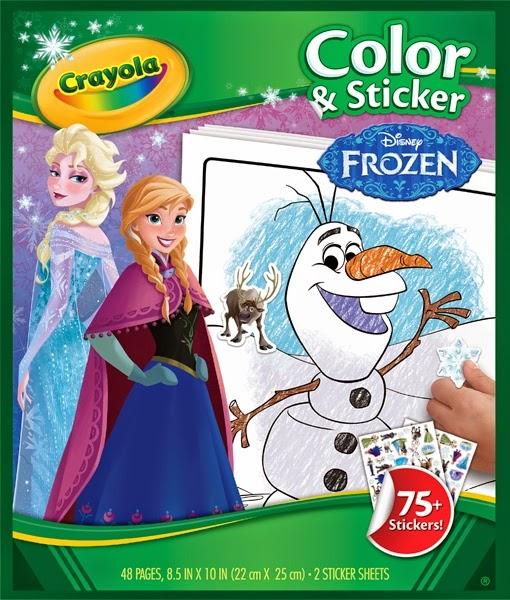 Bộ giấy tô màu và hình dán Frozen của Crayola