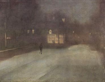 Nocturne in Grau und Gold, Schnee in Chelsea - Whistler