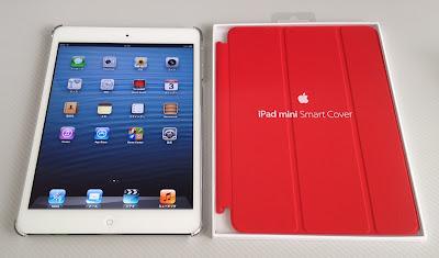 iPad mini用シェルケース「BSIPD712CHCR」とApple純正スマートカバー