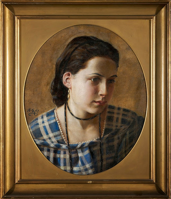 Kristian Zahrtmann - Portrait of Vilhelmine Erichsen - Google Art Project.