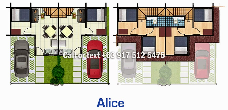 Floor Plan of Alice Ready Home - Lancaster New City Cavite | House and Lot for Sale General Trias Cavite