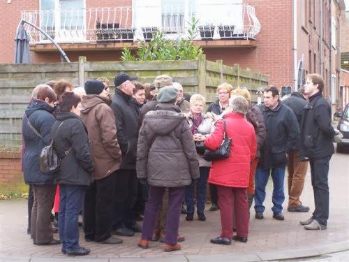 Na de middag volgen we de gids door Hoegaarden. Het leek wel of hier vroeger overal werd gebrouwen!