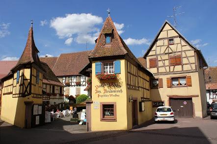 Eguisheim Дегустационный зад FREUDENREICH & FILS Лучшие вина Cremant d'Alsace