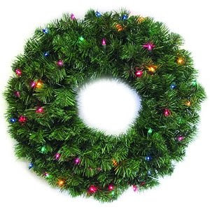 Lighted Wreath 24 In Holiday Wonderland Multi 60091-88