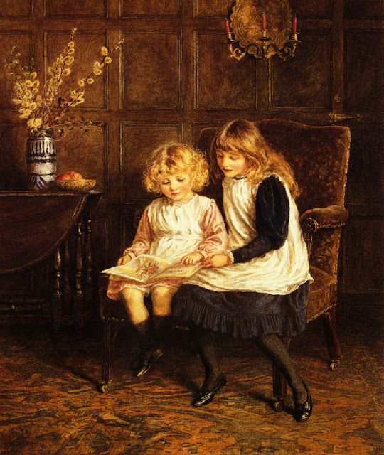 Helen Allingham - Reading Lesson