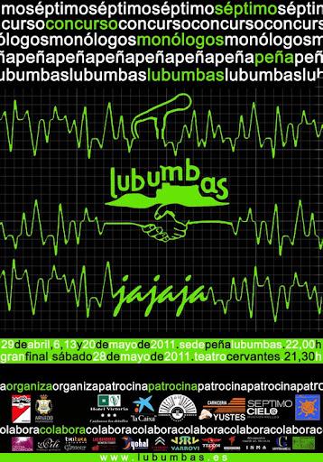 Cartel de la VII edición del Concurso de Monólogos Peña Lubumbas 2011