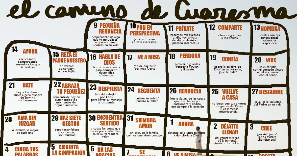 Scala coeli calendario de cuaresma for Calendario adviento 2017