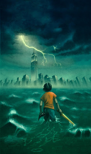 Cover image by John Rocco for The Lightning Thief (Percy Jackson and the Olympians, Book 1) written by Rick Riordan, published by Disney Hyperion Books.