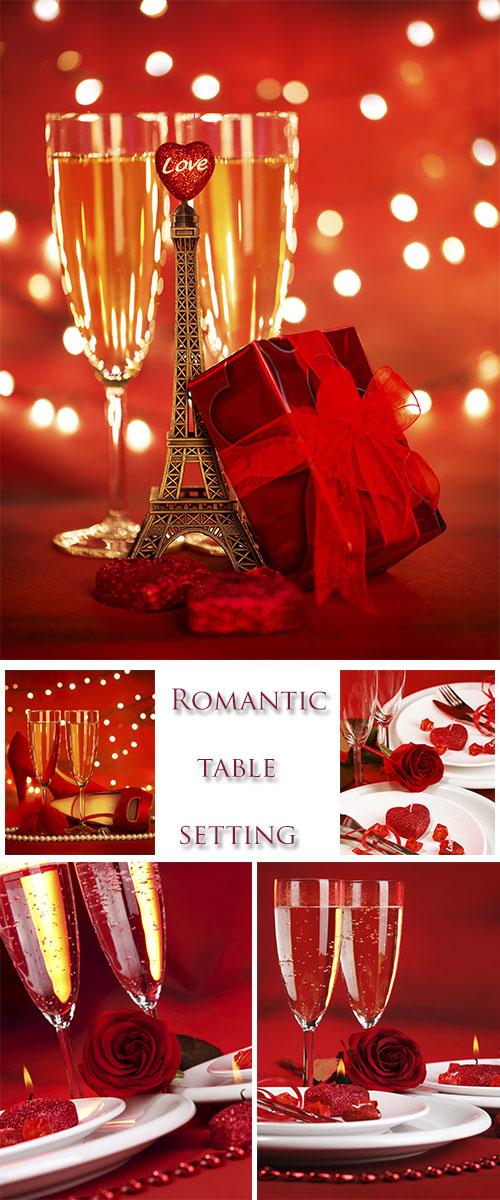 Stock Photo:  Romantic table setting