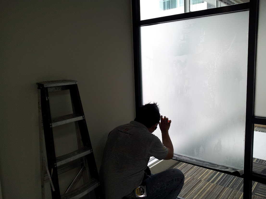 install frosted film