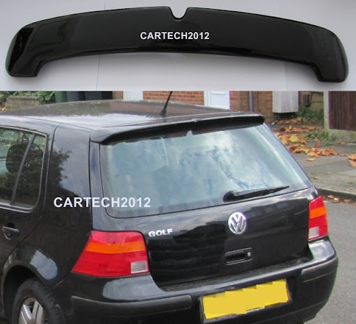 vw golf 4 mk4 rear roof spoiler golf iv ebay. Black Bedroom Furniture Sets. Home Design Ideas