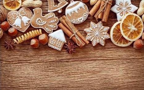 Sfondi di Natale biscotti decorati alla cannella