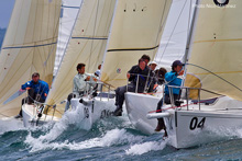 J/80 one-design sailboats- off Spain