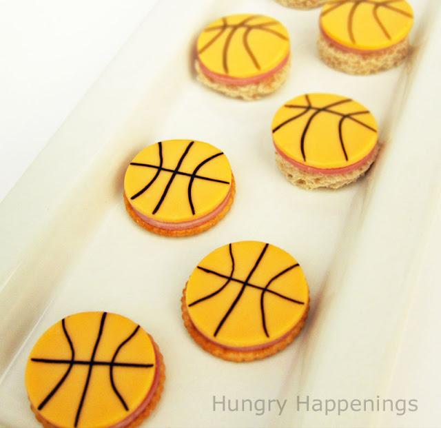 basketball cracker appetizers