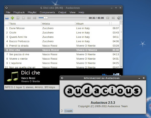 Audacious 2.5.3 su Debian Squeeze