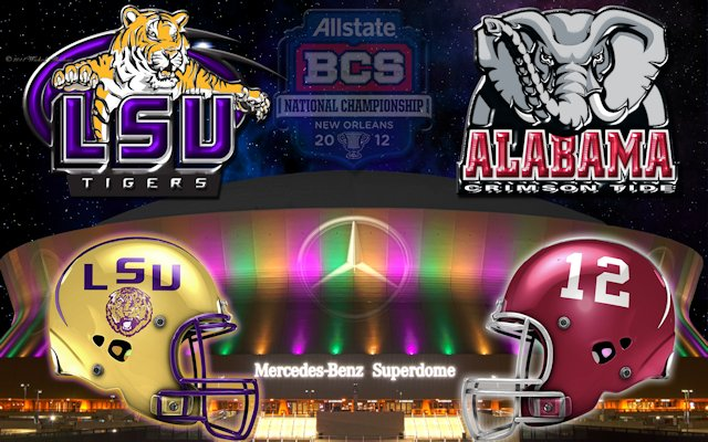 Alabama Vs LSU 2012 Championship Wallpaper