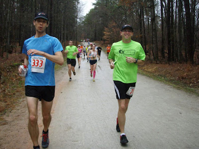 Umstead Trail Marathon 2012 Sloppy Single-track
