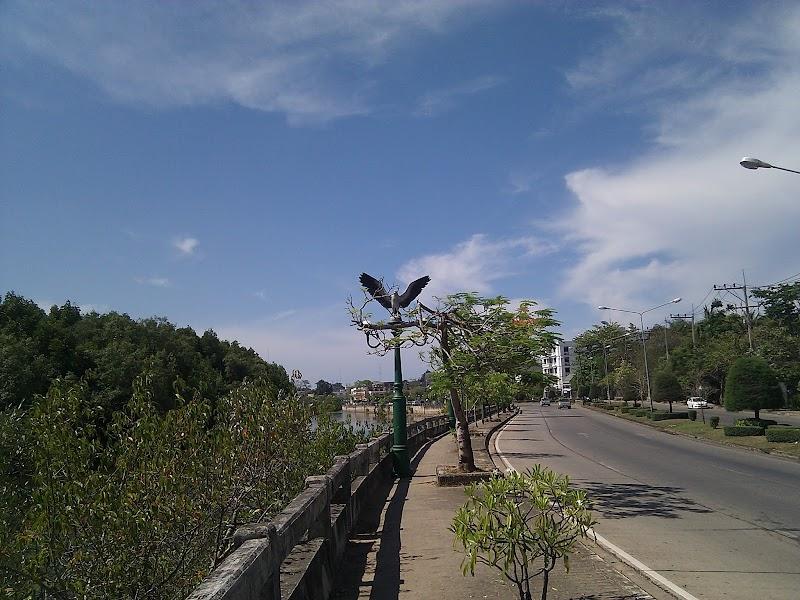 Eagle Statue on Lamp Post