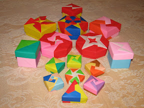 """Origami Boxes from Tomoko Fuse's """"Origami Boxes"""""""