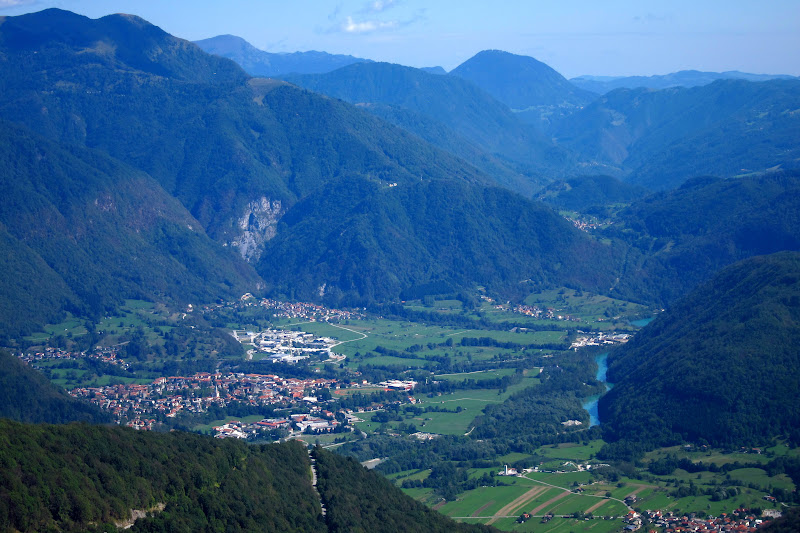 The Soča Valley.  Tolmin is the main villageon the left.