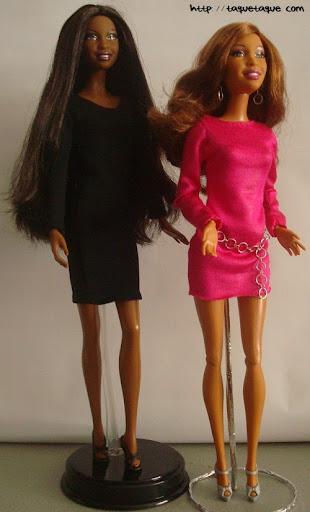 Diseños OOAK DIY by Taque-Taque para Barbie Fashionista: Artsy con el vestido DIY fucsia y Barbie Basics LBD #10
