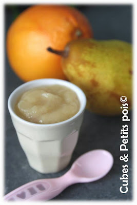 recette bébé 6 mois compote de poire au pamplemousse
