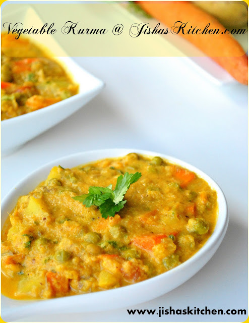 Vegetable Kurma For Chapathi ! Jisha's Kitchen !: V...