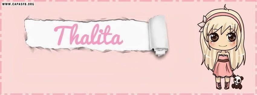 Capas para Facebook Thalita