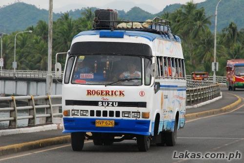 Bus going to Balangiga, Eastern Samar