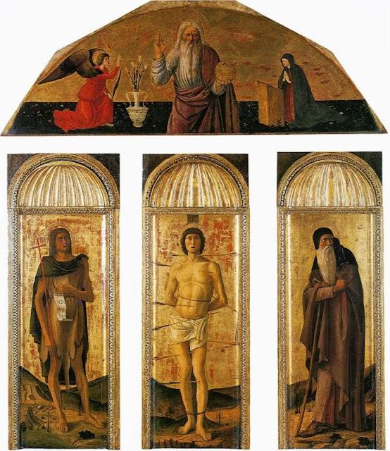 Jacopo Bellini - Triptych of St Sebastian