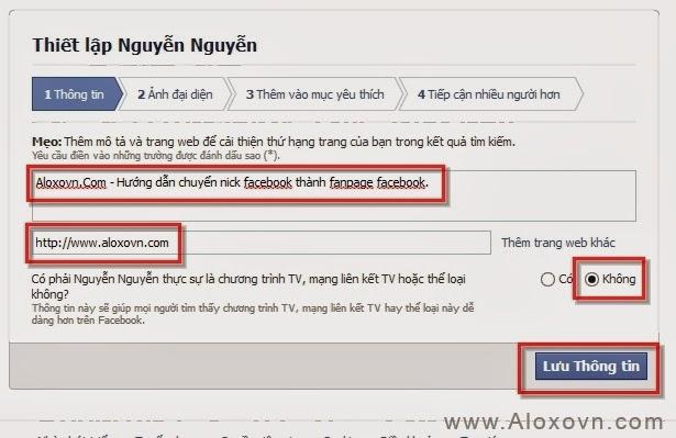 Hướng dẫn chuyển trang cá nhân facebook thành fanpage - hướng dẫn 8