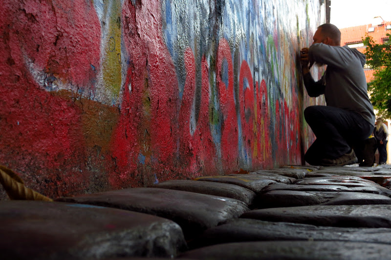 Tony at the Lennon Wall