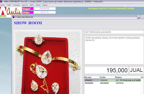 software keuangan show perhiasan jewellery