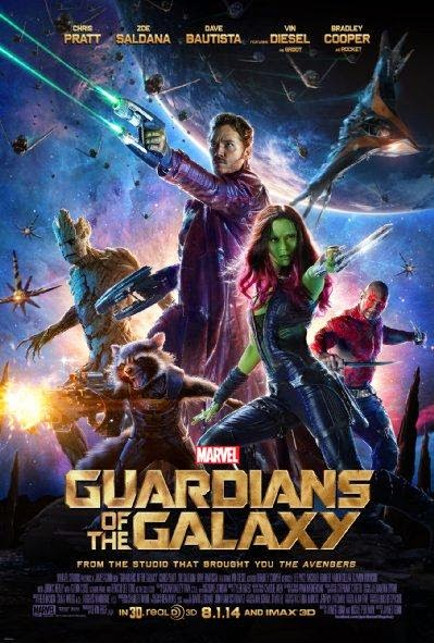 Poster Of English Movie Guardians of the Galaxy (2014) Free Download Full New Hollywood Movie Watch Online At Alldownloads4u.Com