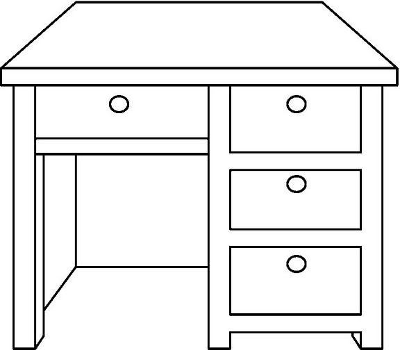 Imagenes de escritorio para colorear imagui for Dibujar un mueble en 3d