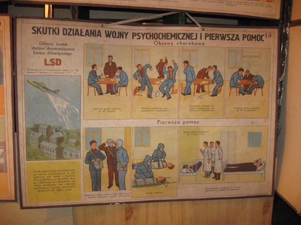 tablica informacyjna - wojna psychochemiczna