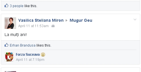 Steliana Vasilica Miron, Mugur Geu