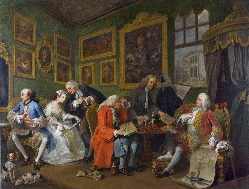 William Hogarth - Marriage A-la-Mode 1 The Marriage Settlement