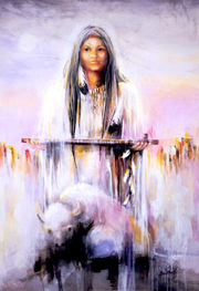 Goddess White Buffalo Woman Image