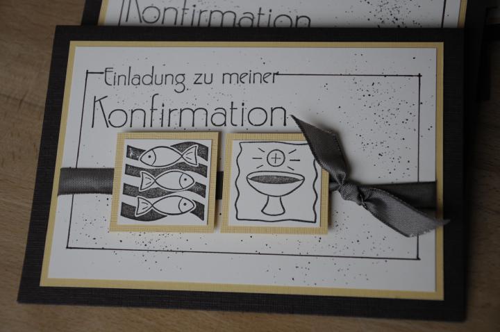 karte und kunst: einladung zur konfirmation, Einladung