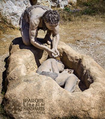 Simbolismo. Enterramiento neandertal. Atapuerca. Hoy sabemos que el comportamiento simbólico no era exclusivo del sapiens.