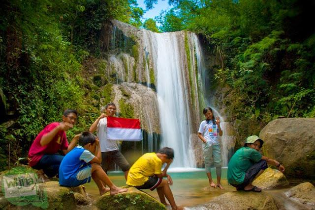 Sampai Juga di Grojogan Sewu, Kulon Progo, Yogyakarta