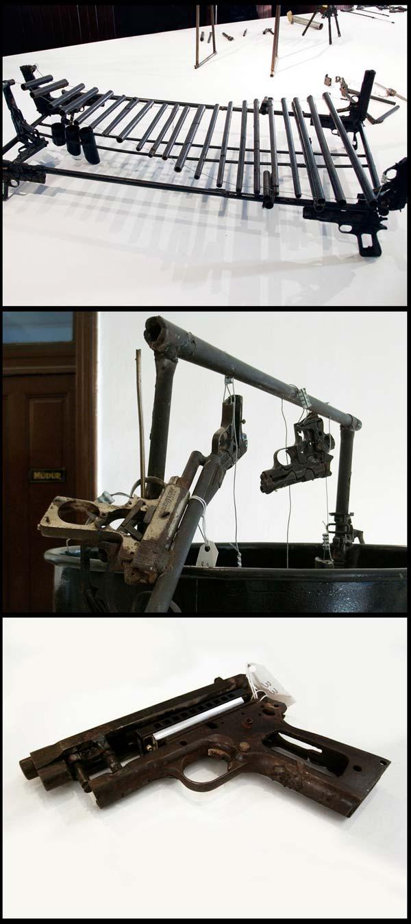 Serius kreatif - alat muzik dari senjata pedro reyes (11 gambar