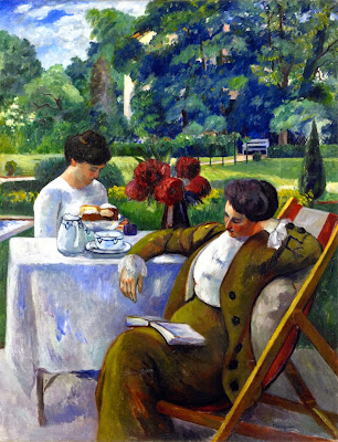 Henri-Charles Manguin - Tea at the Villa Flora.