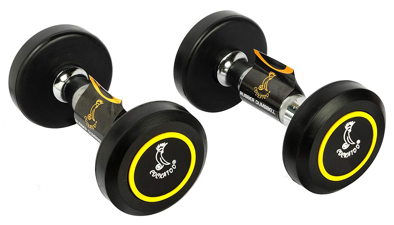 Cockatoo Professional Rubber Coated Round Dumbbells